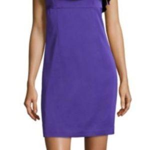 Trina Turk ruffled one shoulder dress